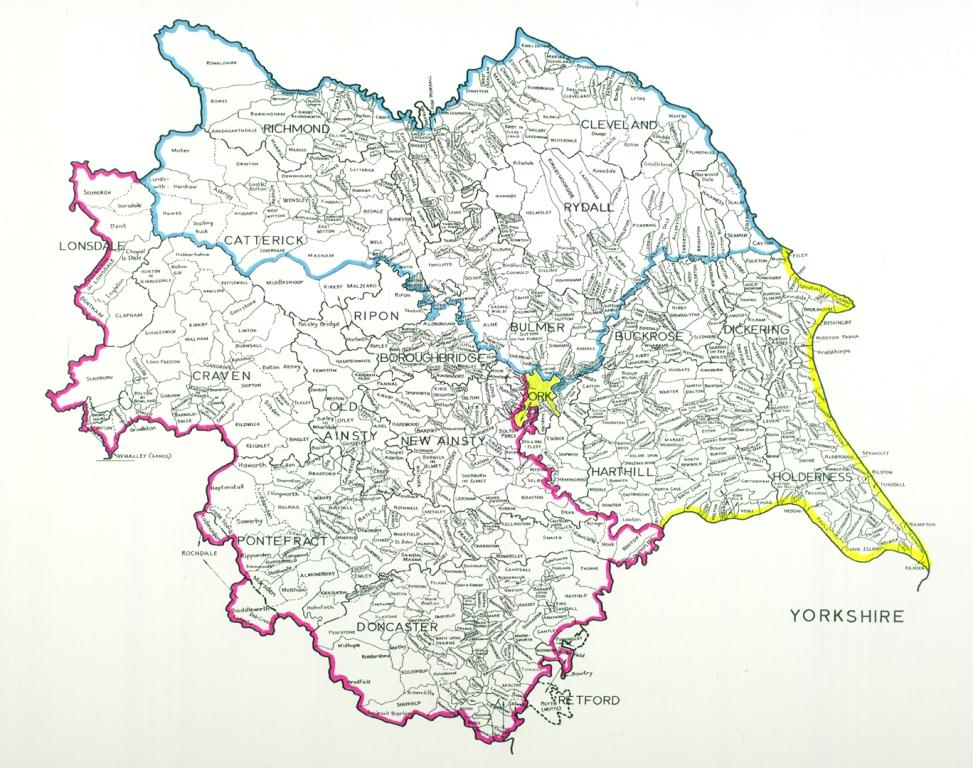 Map of the Ridings