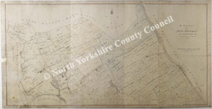 Historic map of Hutton Bonville 1819
