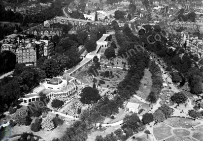 Harrogate, Valley Gardens, Aerial View