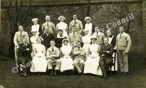 Staff of Rutson Hospital Northallerton 1918