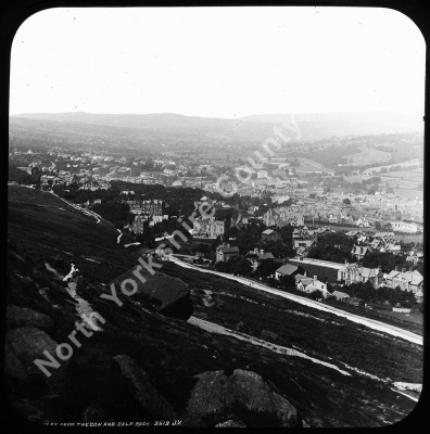 Ilkley from Ben Rhydding - Ilkley from The Cow and Calf Rock