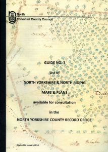 NYCRO Guide Number Three: list of North Yorkshire and North Riding maps & plans