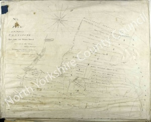 Historic inclosure map of Conistone 1802