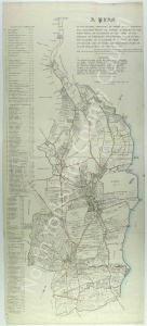 Historic inclosure map of Scalby 1777