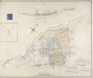 Historic inclosure map of Stockton on the Forest 1817