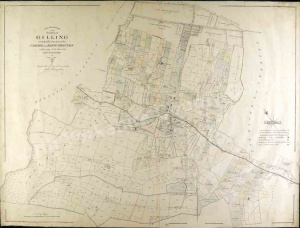 Historic inclosure map of Gilling 1814