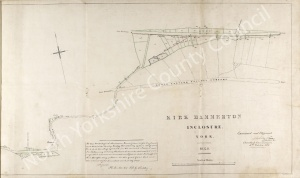 Historic inclosure map of Kirk Hammerton