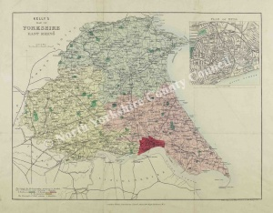 Historic map of the East Riding of Yorkshire 1822