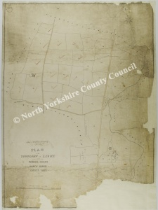 Historic tithe map of Leake 1851