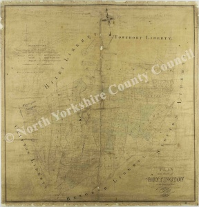 Historic map of Huntington 1829