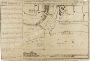Historic map of Whitby 1794