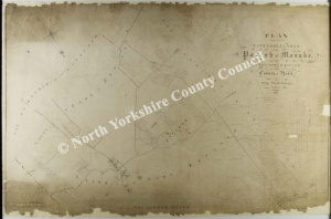 Historic tithe map of Marske 1846