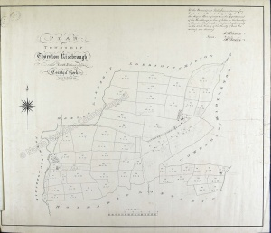Historic tithe map of Thornton Risebrough