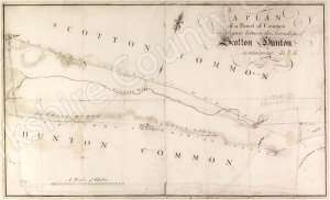 Historic map of Scotton and Hunton