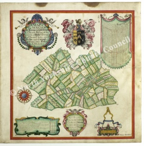 Historic map of Barton in the Willows 1711