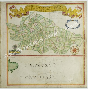 Historic map of Harton 1713