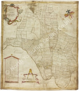 Historic map of Howsham 1758