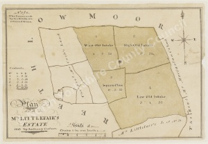 Historic map of Reeth 1838