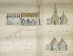 Historic plan of Buttercrambe Church