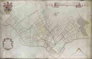 Historic map of Buttercramb 1746