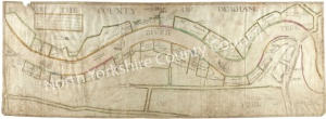 Historic map of the River Tees 1750
