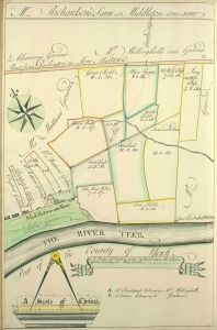 Historic map of Middleton One Row 1757