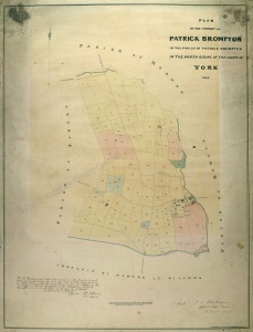Historic map of Patrick Brompton 1838