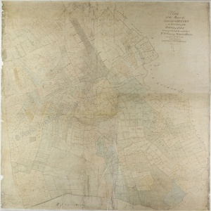 Historic map of Sessay and Hutton 1754