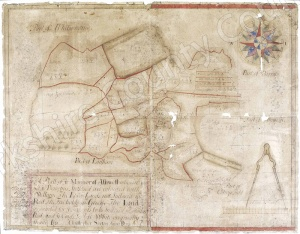 Historic map of Ashwell 1604