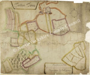 Historic map of Carlton Farms 1708