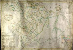 Historic map of Newbrough 1722
