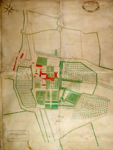 Historic map of Newborough 1722
