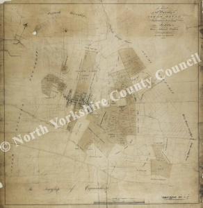 Historic map of Askham Bryan 1821