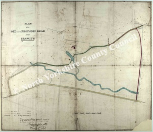 Historic map of Brawith 1854