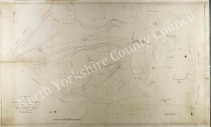 Historic map of Sproxton 1820