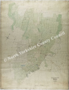 Historic map of Kirby Moorside 1849
