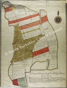 Historic inclosure map of Fadmoor 1763