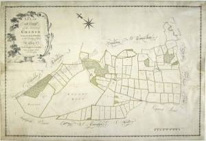 Historic map of Oswaldkirk 1782