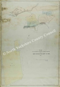 Historic map of West Burton 1849