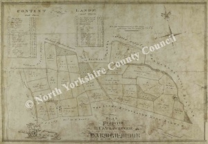 Historic map of Harmby 1850