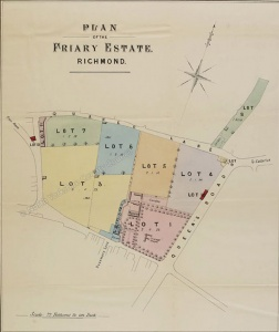 Historic plan of the Friary estate, Richmond