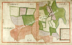 Historic Map of East Witton: Jervaulx Abbey 1627