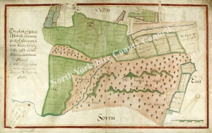Historic Map of East Witton: Fellend, Ellfahall & Hammer 1627