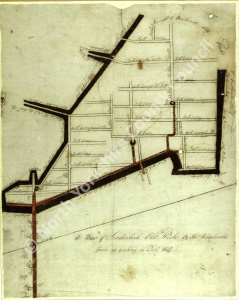 Historic map of East Witton 1841