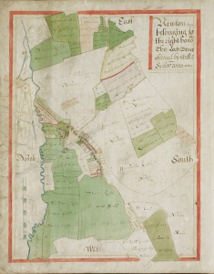 Historic map of Newton Darcy 1627
