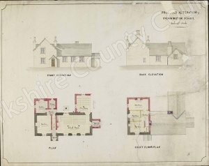 Historic plan of Fremington School
