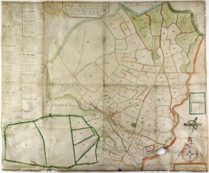 Historic map of Stainton 1694
