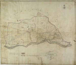 Historic map of Thoresby 1828