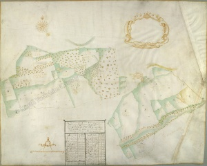 Historic map of Middleham 1678