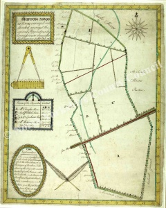 Historic map of Skipton Moor 1765